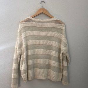 Roxy Sweaters - LIKE NEW Roxy Scoop Neck Cream Sweater